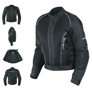 Ce Armour Mesh Summer Tex Jacket Motorbike Motorcycle Sonicmoto Black Xl