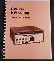 Collins Kwm-380 Instruction Manual - Premium Card Stock Covers & In Color