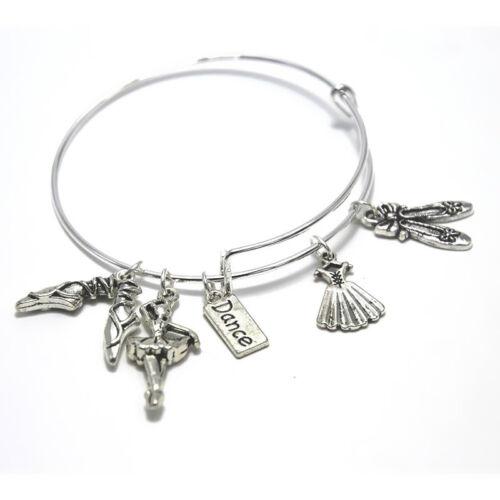 Danse Charme Bracelet Cadeau Pour danseuse danse Professeur Cadeau extensible Bangle