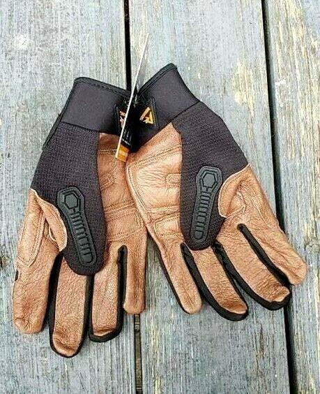Ridgecut Toughwear Impact Protection Leather Gloves size XL Black/Brown NWT