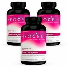 3 x NeoCell Super Collagen +C, Type I & III 1 & 3 250 Tablets FRESH, Made In USA