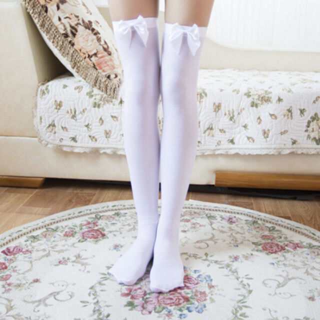 86bc494e2 Girl Stretchy Meias Over The Knee High Socks Stockings Tights With ...