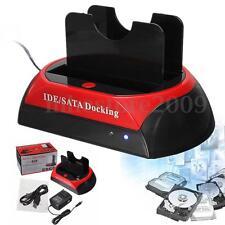 2.5'' 3.5'' SATA HDD USB 2.0 Hard Disk Drive Docking Station Clone Copy OTB HUB