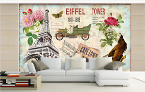 3D Green Carriage Tower Paper Wall Print Wall Decal Wall Deco Indoor Murals