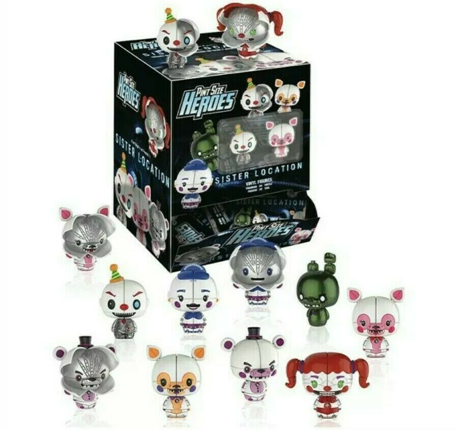 Funko Pint Größe Heroes FIVE NIGHTS AT FrotDY'S SISTER LOCATION new x 24 full box