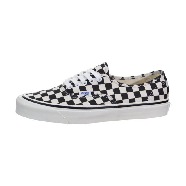1029adaf9392 VANS Authentic 44 DX Checker 7 Men Black White Anaheim Factory for ...