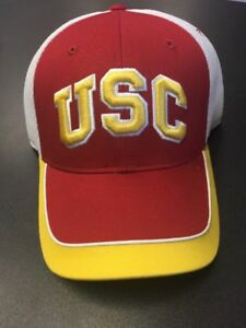 24ce38279a4 USC Trojans Adjustable Men s Hat White Red Small Medium Authentic ...
