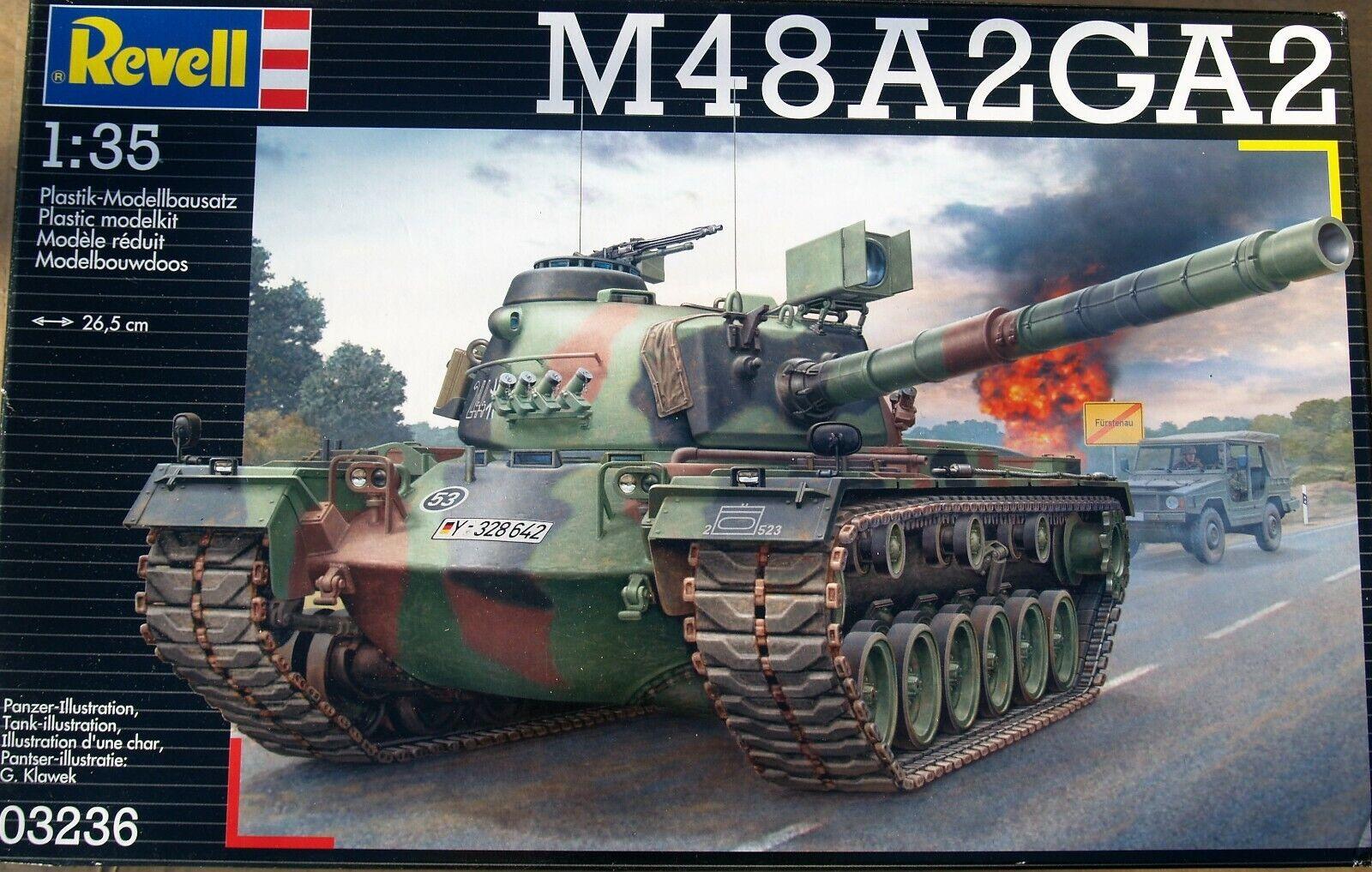 MODELLISMO- M48 A2GA2 - MODELLO IN PLASTICA - Revell - Scala 1 35