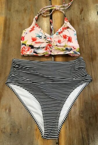 Women's Cupshe This Is Love Tank Bikini Set Size Medium NWT