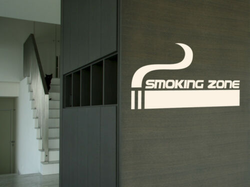 "S307 Wall Tattoo /""Tuxedo Zone/"" Sticker Smoke Smoking area"