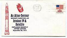 1977 Atlas-Centaur Rocket Carryng Intelsat IV-A Satellite Cape Canaveral USA SAT