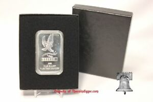 2 AIR-TITE Direct Fit Capsule Storage Gift Box /& 5oz Silver Bar Acrylic Holder