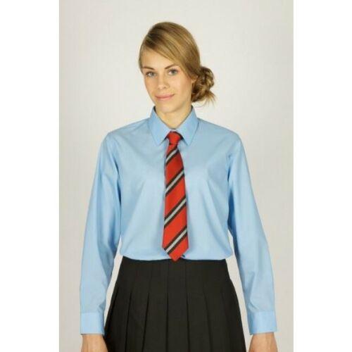 Girl/'s Trutex Blue Long Sleeve Easy Care Poly//Cotton School Uniform Blouse