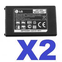 2x LG LGIP-340N OEM Banter AX265 UX265 LX265 Xenon GR500 BATTERY 90 DAYS WTY