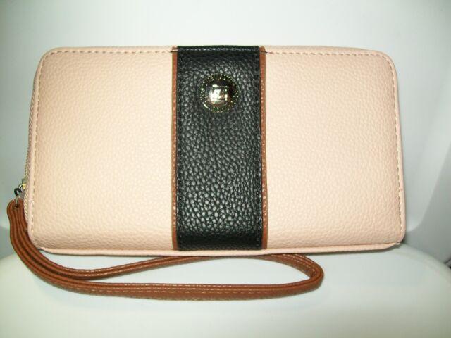 d18b5d65299a Stone Mountain Tumbled Leather Zip-around Wallet Black blush tan