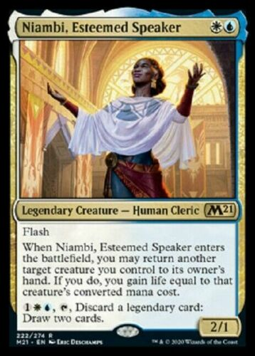 ESTEEMED SPEAKER X1 CORE SET 2021 M21 MTG MAGIC ~NOSTALGIC TREASURES~ NIAMBI