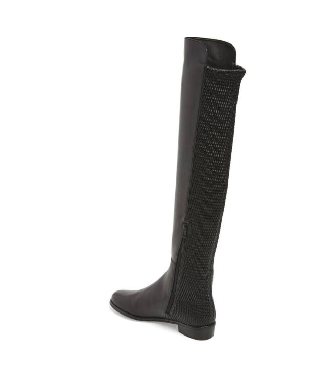 40b76c10392 Stuart Weitzman Alljenn Over Knee Leather Black Boot Sz 8.5 M 4511 ...