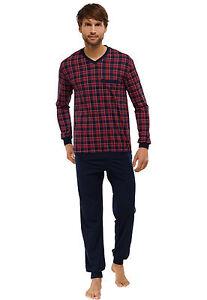 Long Homme pour Fonc Rouge Pyjama Pyjama Schiesser I6gxBB