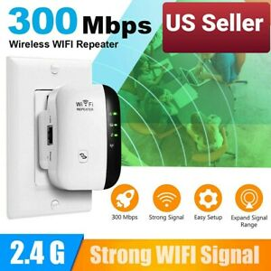 Strong 300mbps Wireless Wifi Repeater Signal Super Booster Extender Ebay