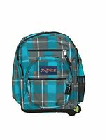 Jansport Blinded Blue/grey Duke Plaid Big Student Book Bag Backpack