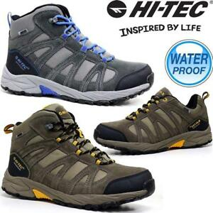Mens-Hi-Tec-Alto-Leather-Walking-Hiking-Waterproof-Trainers-Boots-Shoes-Size