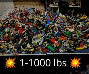 1-To-1000-LB-environ-453-59-kg-LB-De-Lego-Pieces-de-gros-vrac-lot-pieces