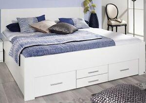 Bettanlage Bett Doppelbett Komfortbett 140x200 Cm Schlafzimmer Weiss