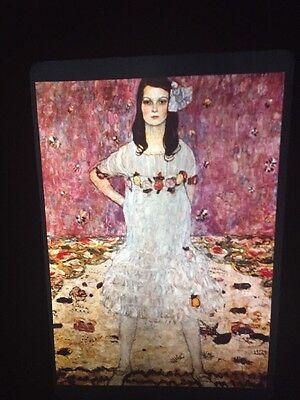 "Gustav Klimt /""Portrait Of Mada/"" Austrian Art Nouveau 35mm Glass Art Slide"