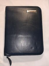 Blue Leather Franklin Covey Binder 7 Ring Zip Closure 8 X 105 Planner Classic