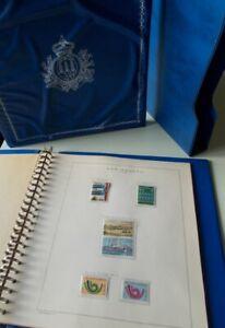 ALBUM-MARINI-SAN-MARINO-anni-1973-e-1974-7-fogli-completi-58-francobolli-nuovi