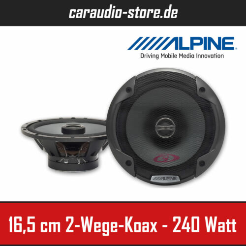 Alpine SPG-17C2 16,5cm 2-Wege Koaxial-System 165mm Auto-Lautsprecher 240Watt Max