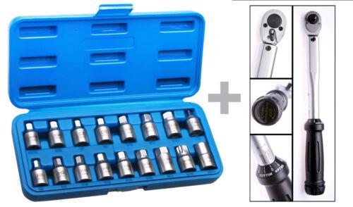 """Öldienstschlüssel Drehmoment Schlüssel 3//8/"""" 20-100 Nm Drehmomentschlüssel"""