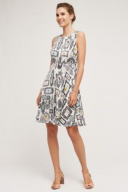 NWT Sz 00 Anthropologie Framed Flare Dress by Pankaj & Nidhie Retail