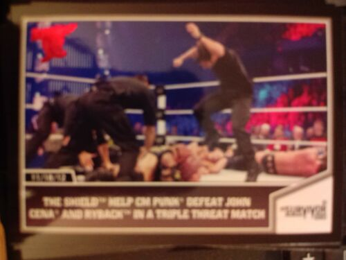 2013 Topps Best of WWE #63 The Shield Help CM Punk Defeat John Cena and Ryback