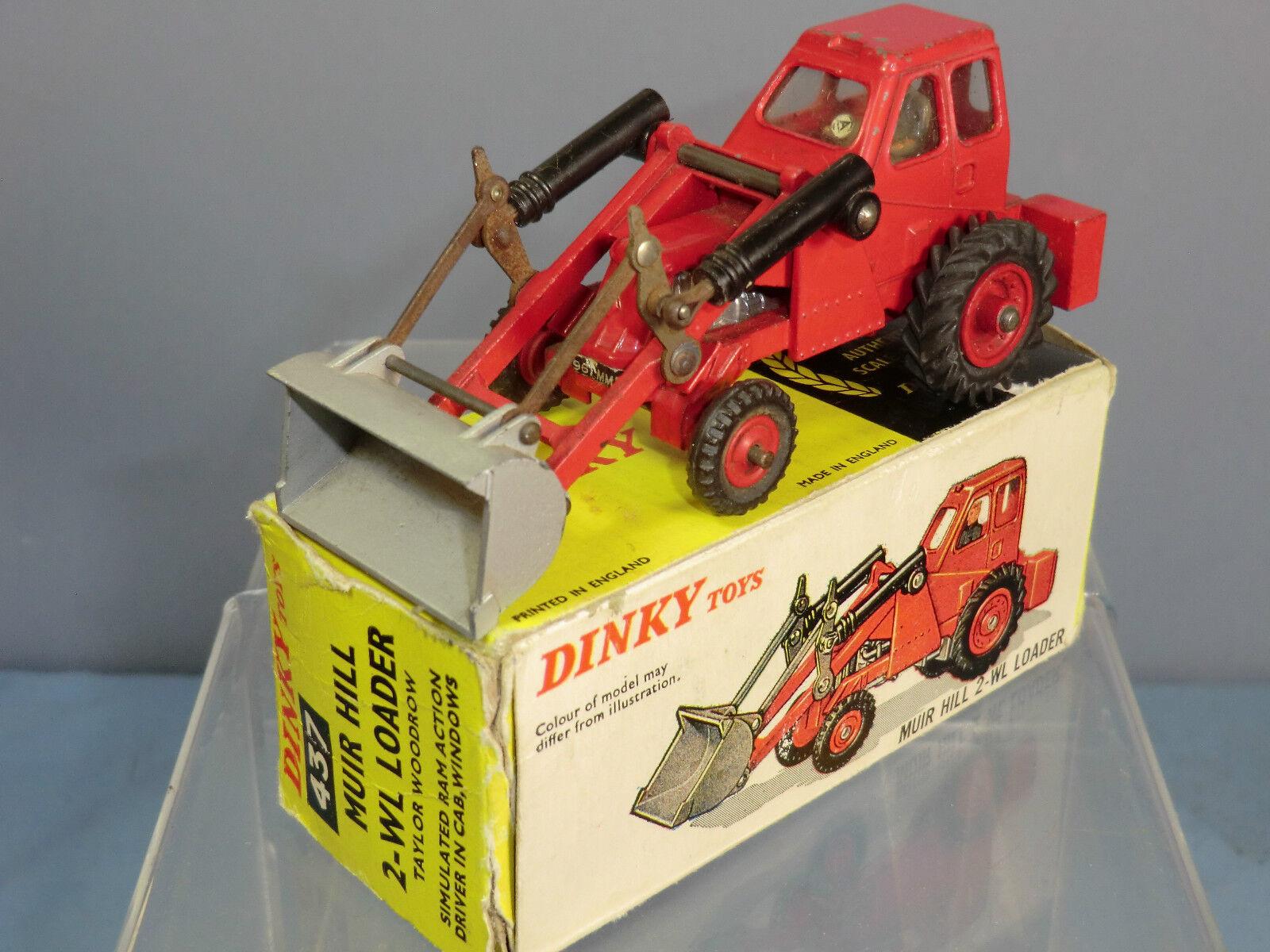 DINKY TOY  No.437  Muir Hill   2 wl loader  taylor boisrow  (Rouge) VN En parfait état, dans sa boîte  gros pas cher et de haute qualité