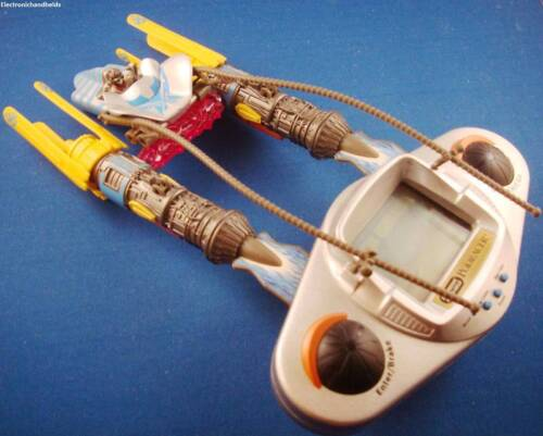 1990s HASBRO ELECTRONIC STAR WARS POD RACER HANDHELD VIDEO GAME SPACE CRAFT
