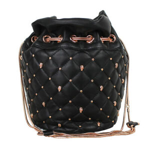 Thomas-Wylde-Black-Leather-Rose-Gold-Skull-Studded-Bucket-Bag-Handbag