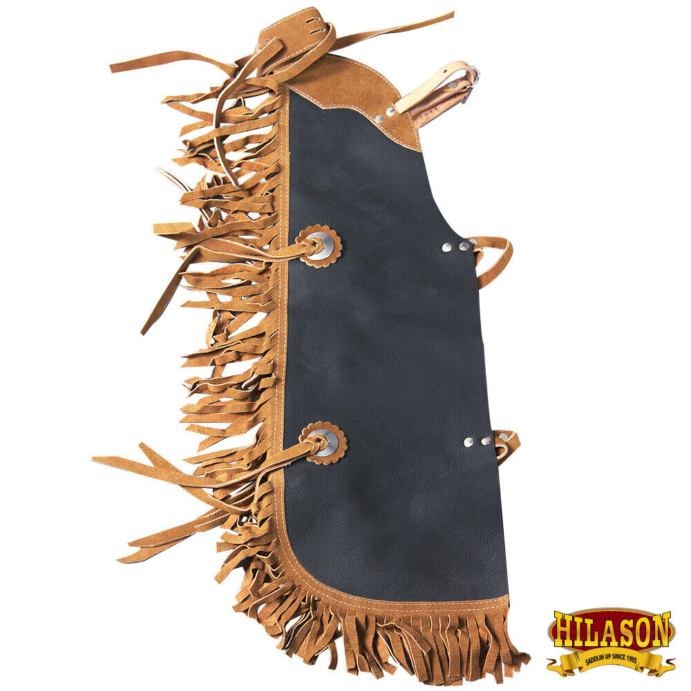Hilason Pro Rodeo Bull Riding Chaps Leather Kids Junior Youth U-H904