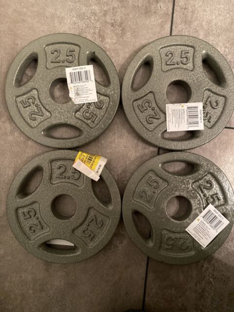 """5LBS Total CAP Barbell Weight Plates 2.5 LBS Set of 2 FAST SHIP 1/"""" Hole"""