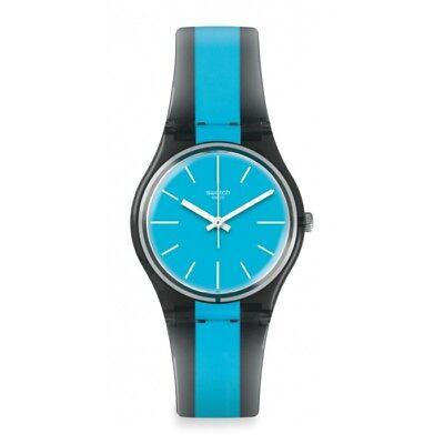 Swatch Men's Azzurrami GM186 Blue Rubber Swiss Quartz Fashion Watch