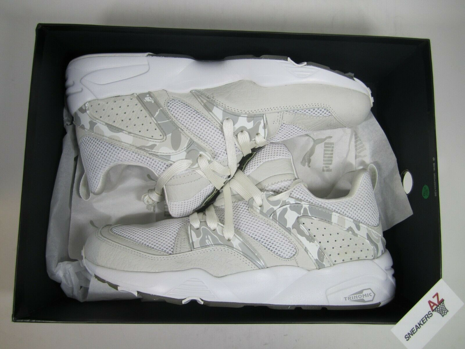 Bape X Puma Blaze Of Glory Camo White DS New Size 12 358844-01 + Receipt
