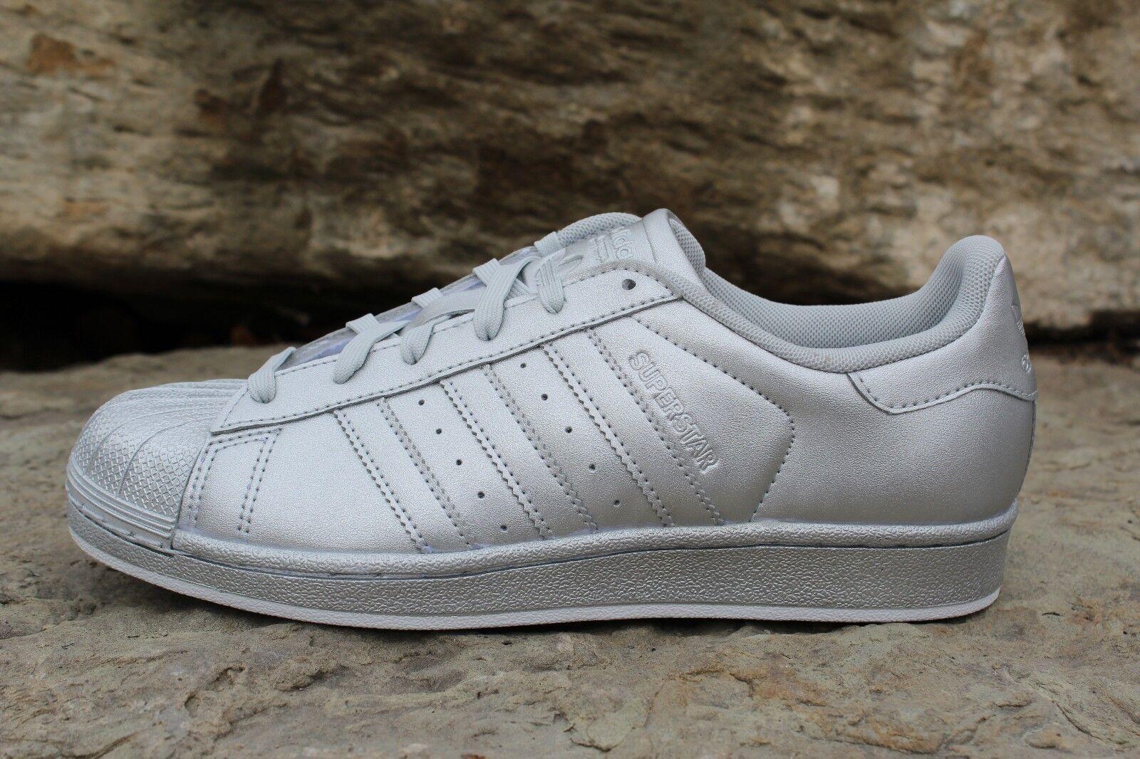 size 40 4e227 59330 14 14 14 New Rare Adidas Originals - Superstar Women s Shoes SZ 6.5 -8.5  Silver ...