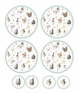 Pimpernel Wrendale Set of 4 Round Placemats & Coasters Table Drink ...