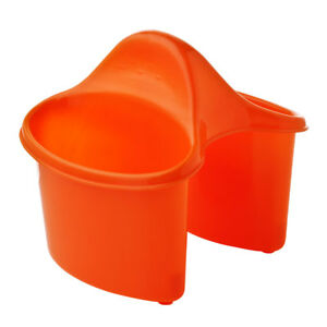 Image Is Loading Premier Orange Plastic Kitchen Utensils Storage Caddy With