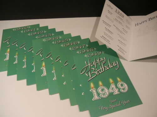 Happy Birthday Greeting Card 1940 1941 1942 1943 1944 1945 1946 1947 1948 1949