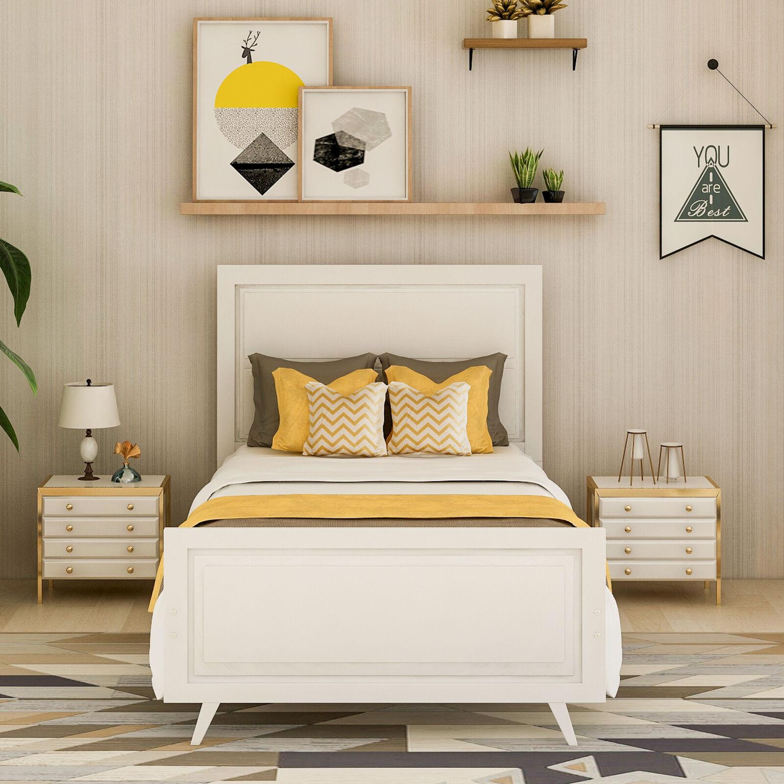 Wood Platform Bed Twin Frame