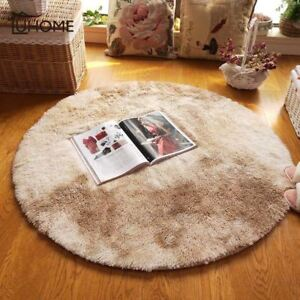 1 Pcs Large Soft Gy Round Carpet