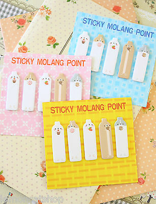 Sticky Molang Sticky Notes Tabs 5pc cute cartoon animal planner mini note pads