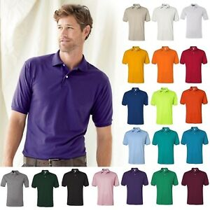 JERZEES-Mens-Spot-Shield-50-50-Cotton-Polyester-437M-Sport-Polo-Shirt-S-4XL