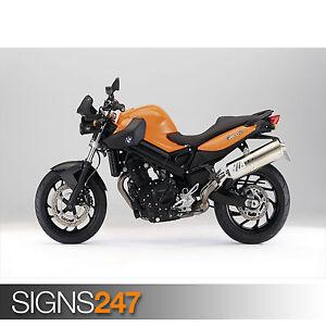 Photo Poster Print Art * All Sizes Motorbike Poster 1636 BMW F800 R ORANGE